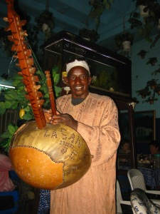 Senegal kora player