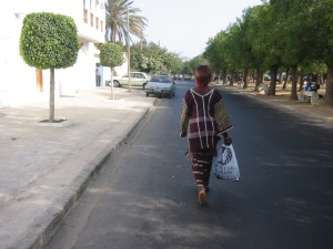 shopper with package