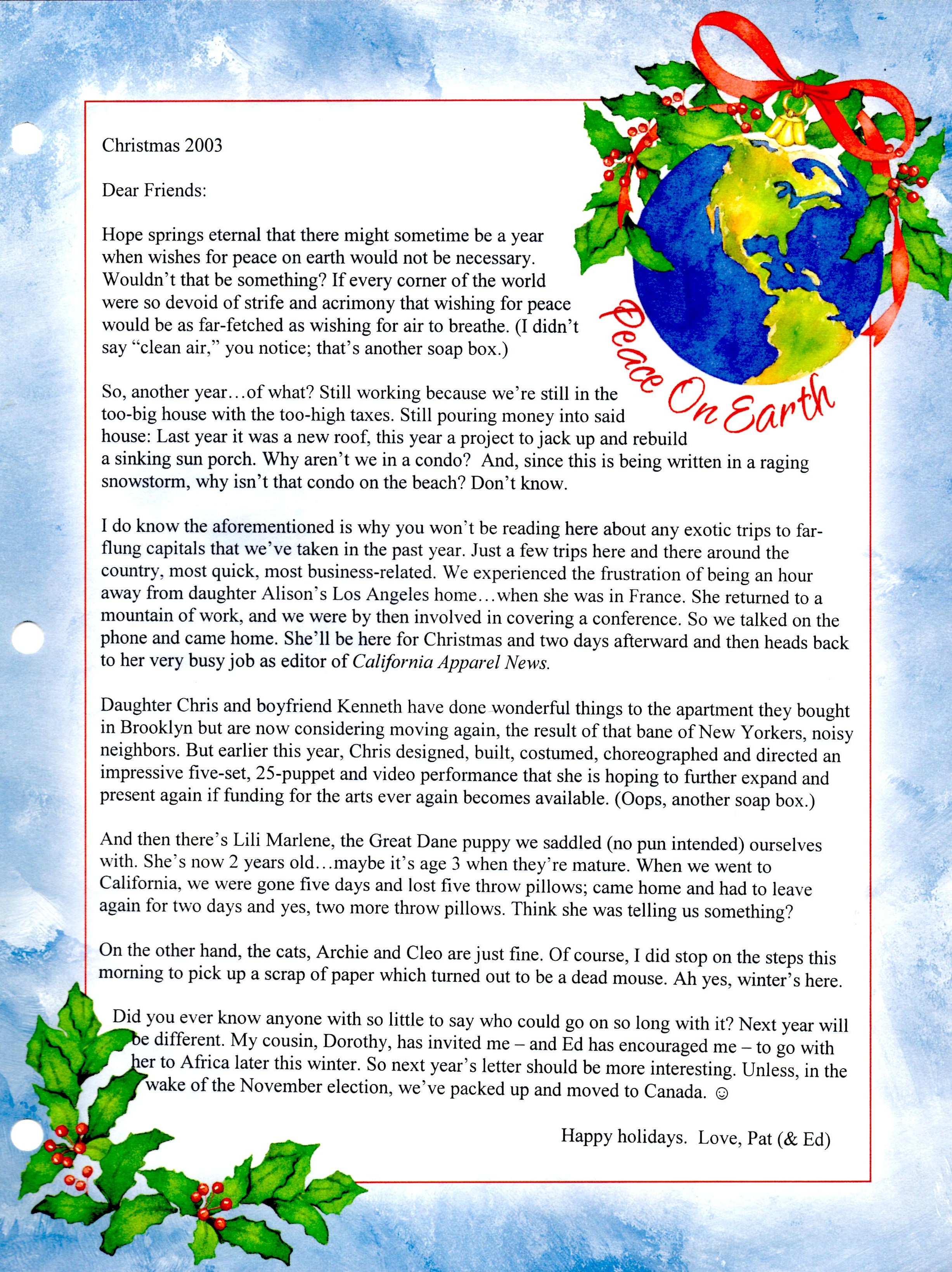 Christmas Letters Patricia Nieder Page 27