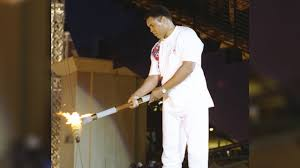 ali with torch