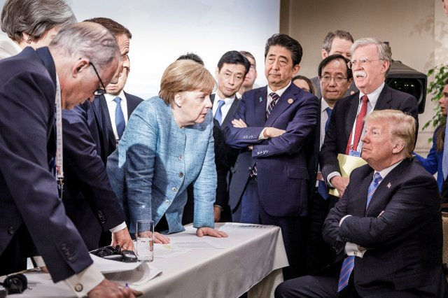 Angela Merkel at G7